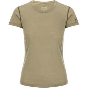 super.natural Base 140 T-Shirt Damen bamboo/killer khaki
